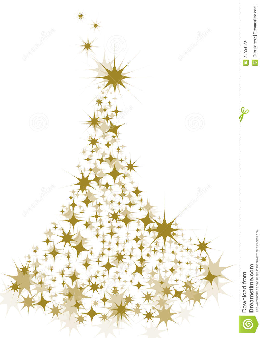 Gold star christmas tree stock vector illustration of gold 34804105 gold star christmas tree kristyandbryce Images