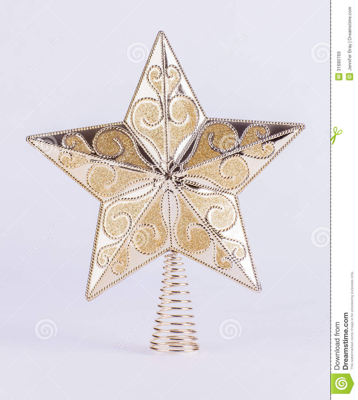 Gold Christmas Tree Topper