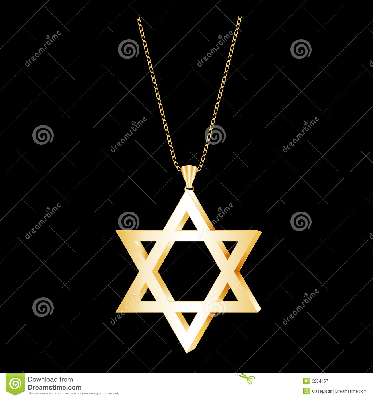 Gold star of david pendant stock vector illustration of keepsake gold star of david pendant aloadofball Images