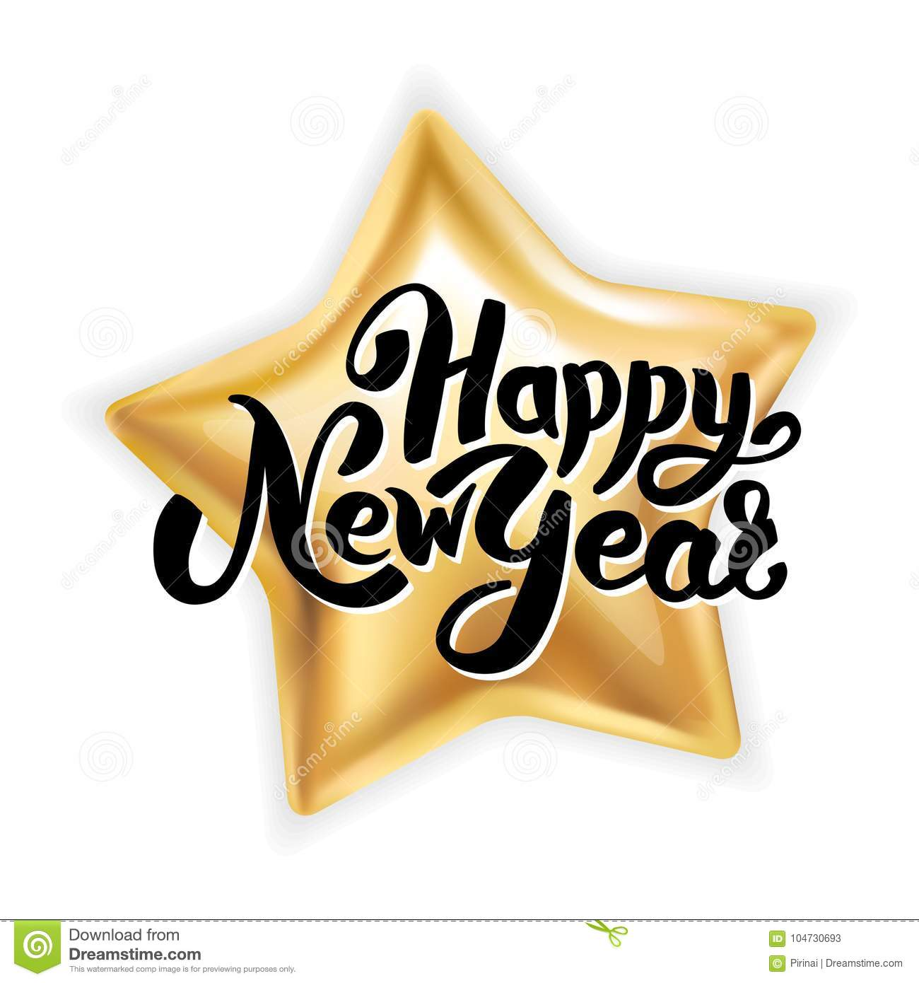 gold star happy new year