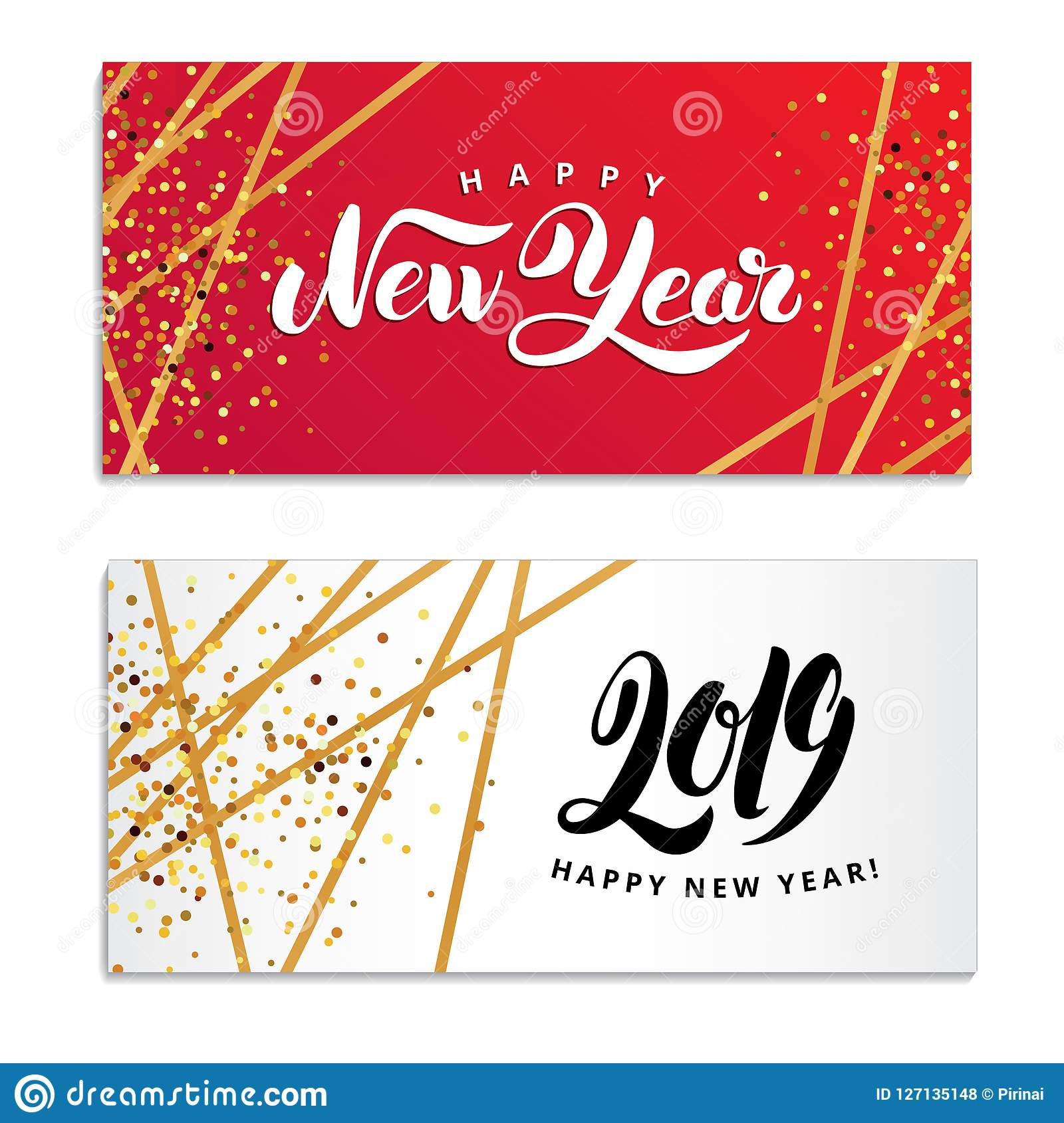 gold star happy new year logo