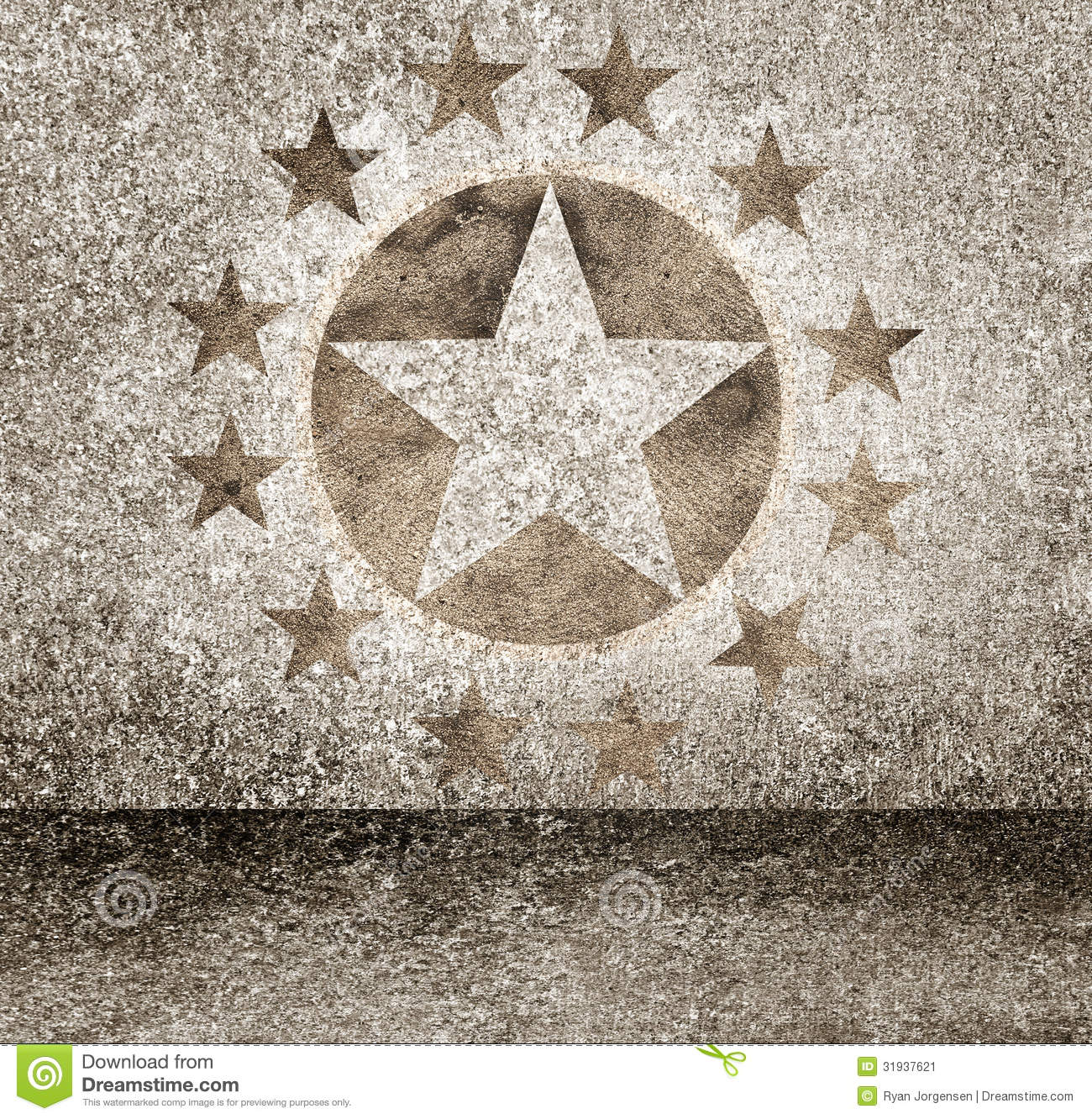 Gold Star Hollywood Event Background. Walk Of Fame Stock ...
