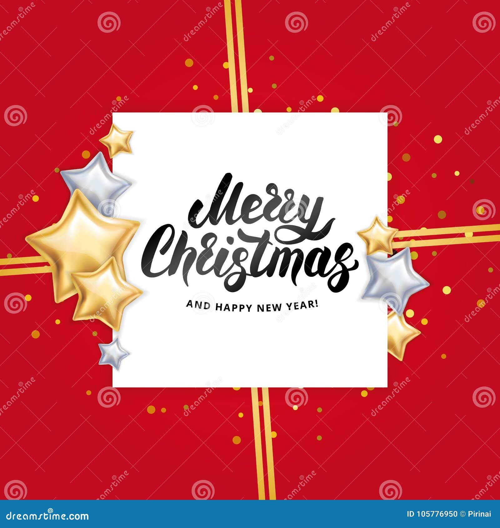 Gold star Merry Christmas stock vector. Illustration of festive ...