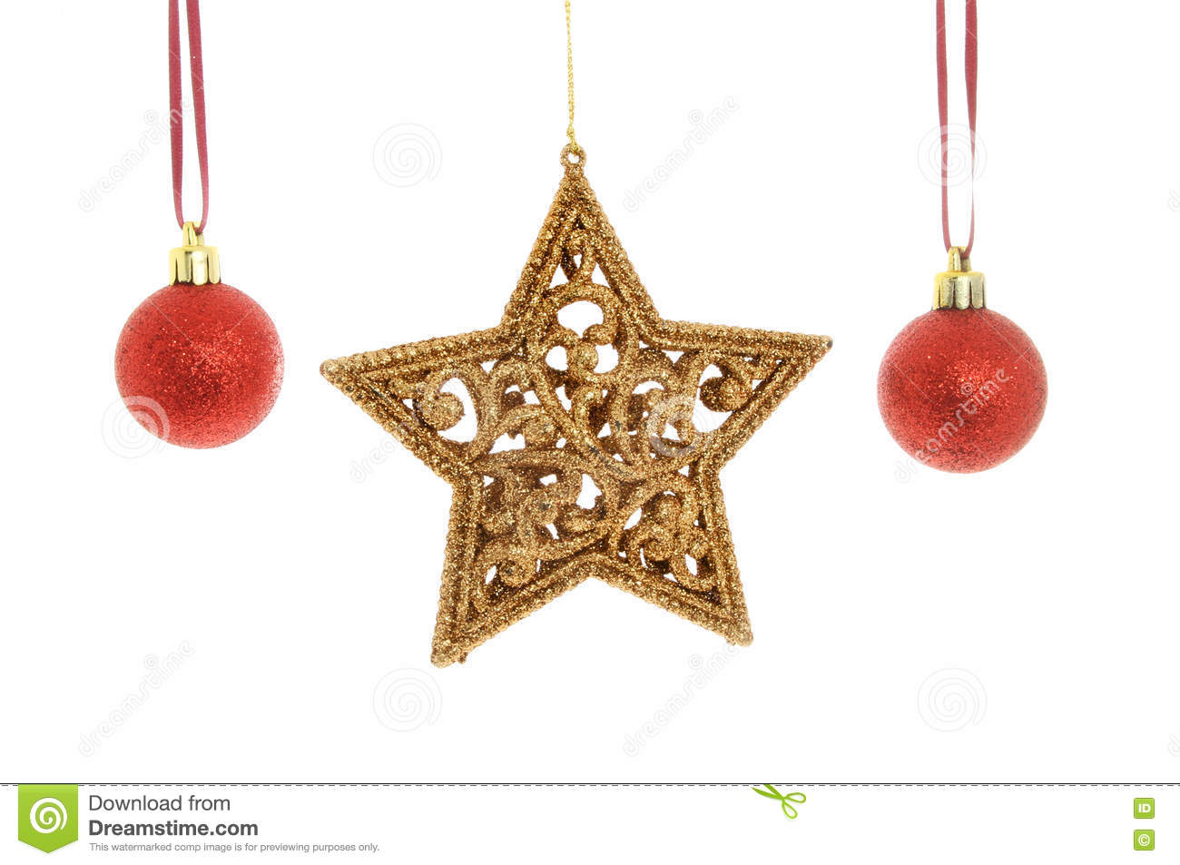 183b8c79a430 Gold star red baubles stock photo. Image of xmas, christmas - 79940220