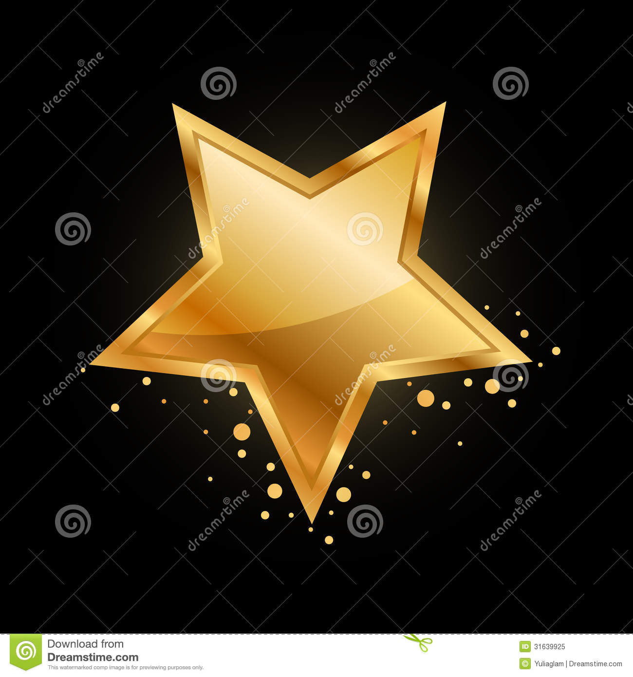 gold star stock vector illustration of clipart approval 31639925