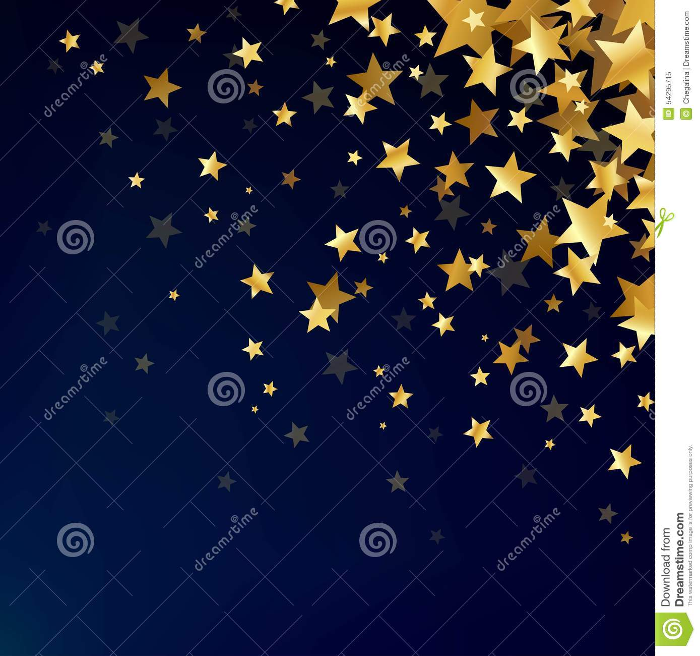 gold stars on the dark background stock vector