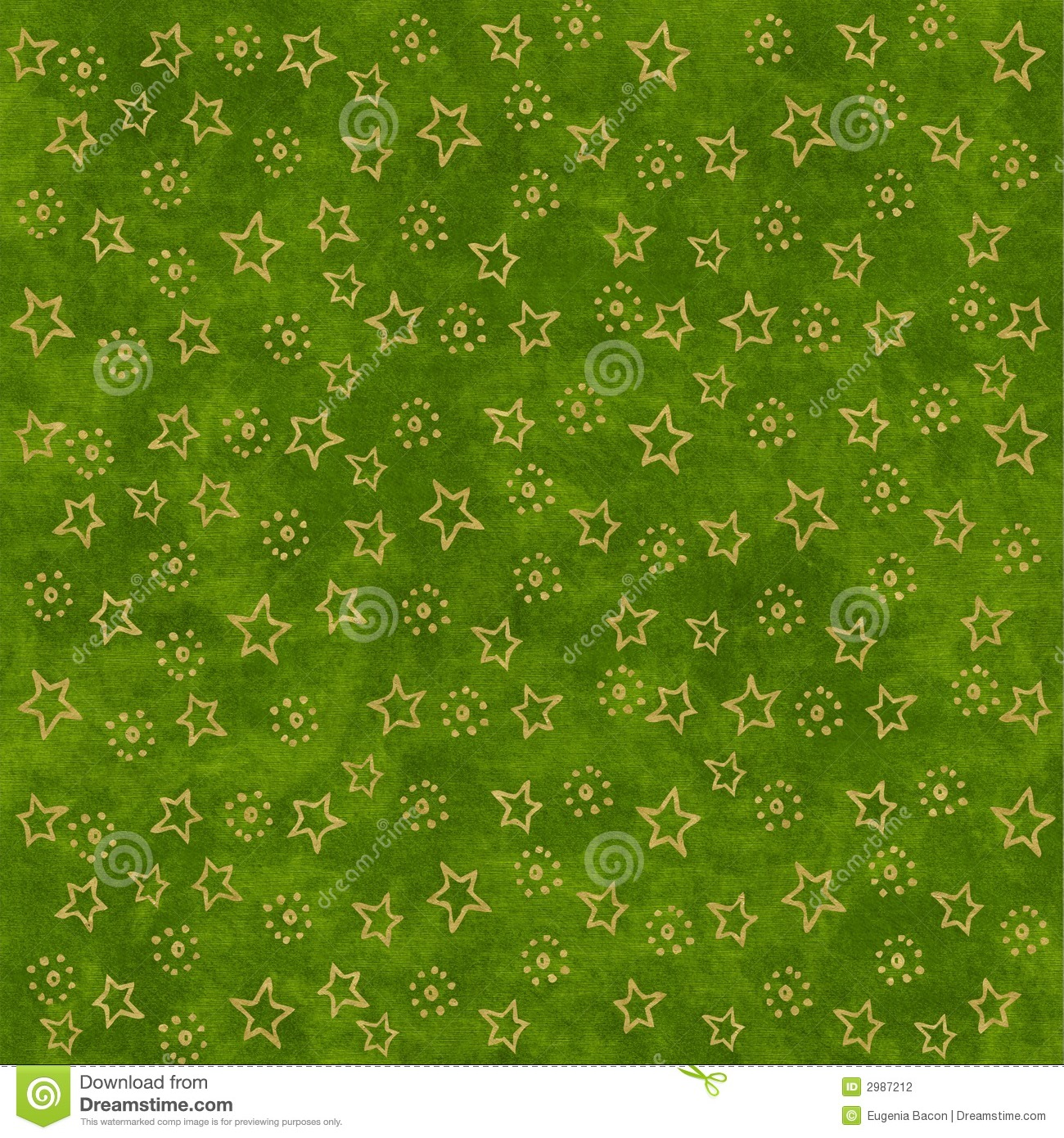 Gold Stars On Green Background Stock Photography - Image ...