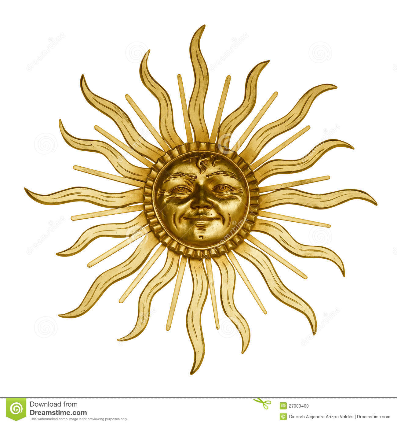 Gold Sun With Face Stock Photo - Image: 27080400