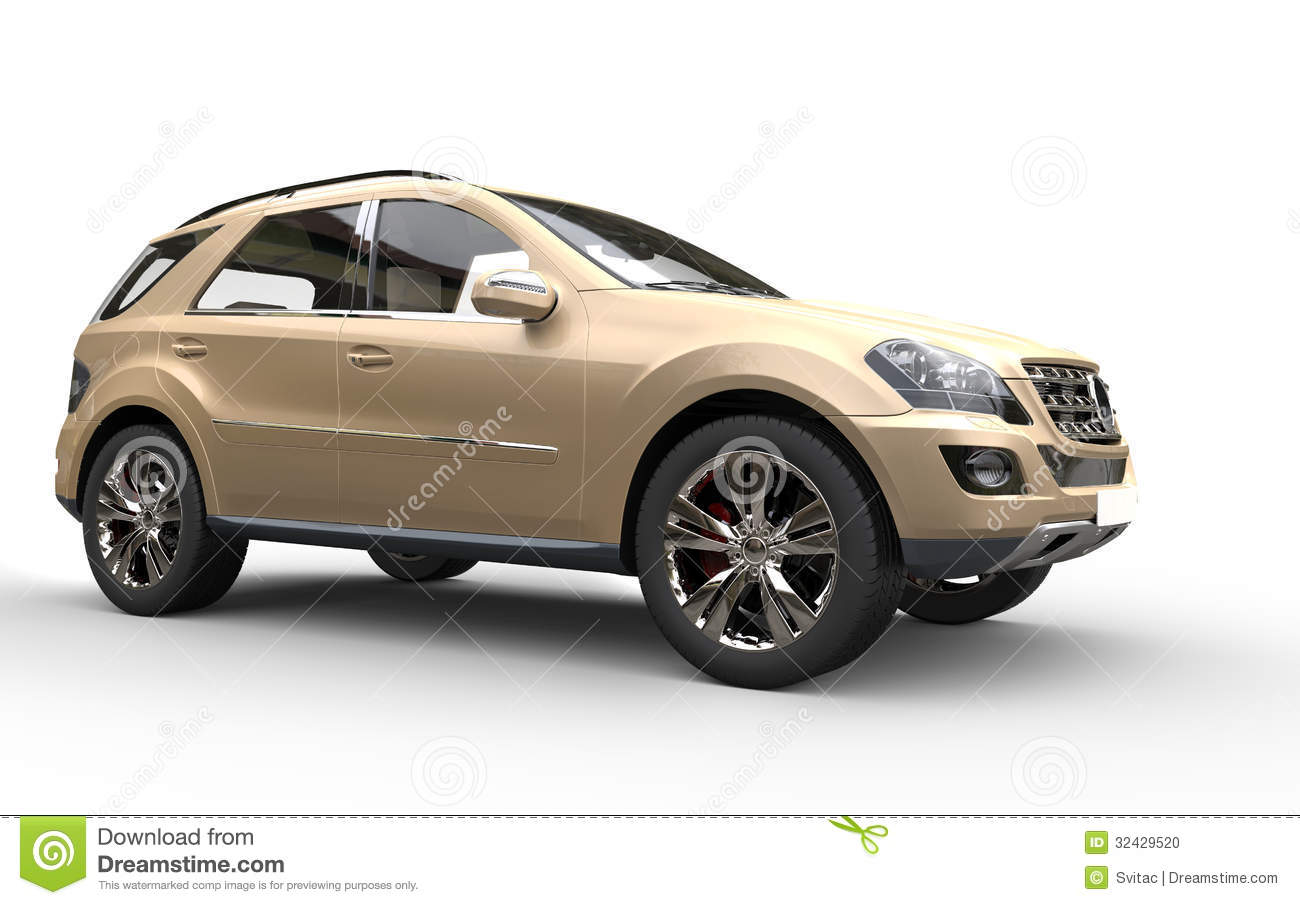 Gold Suv High Resolution Render D Cars