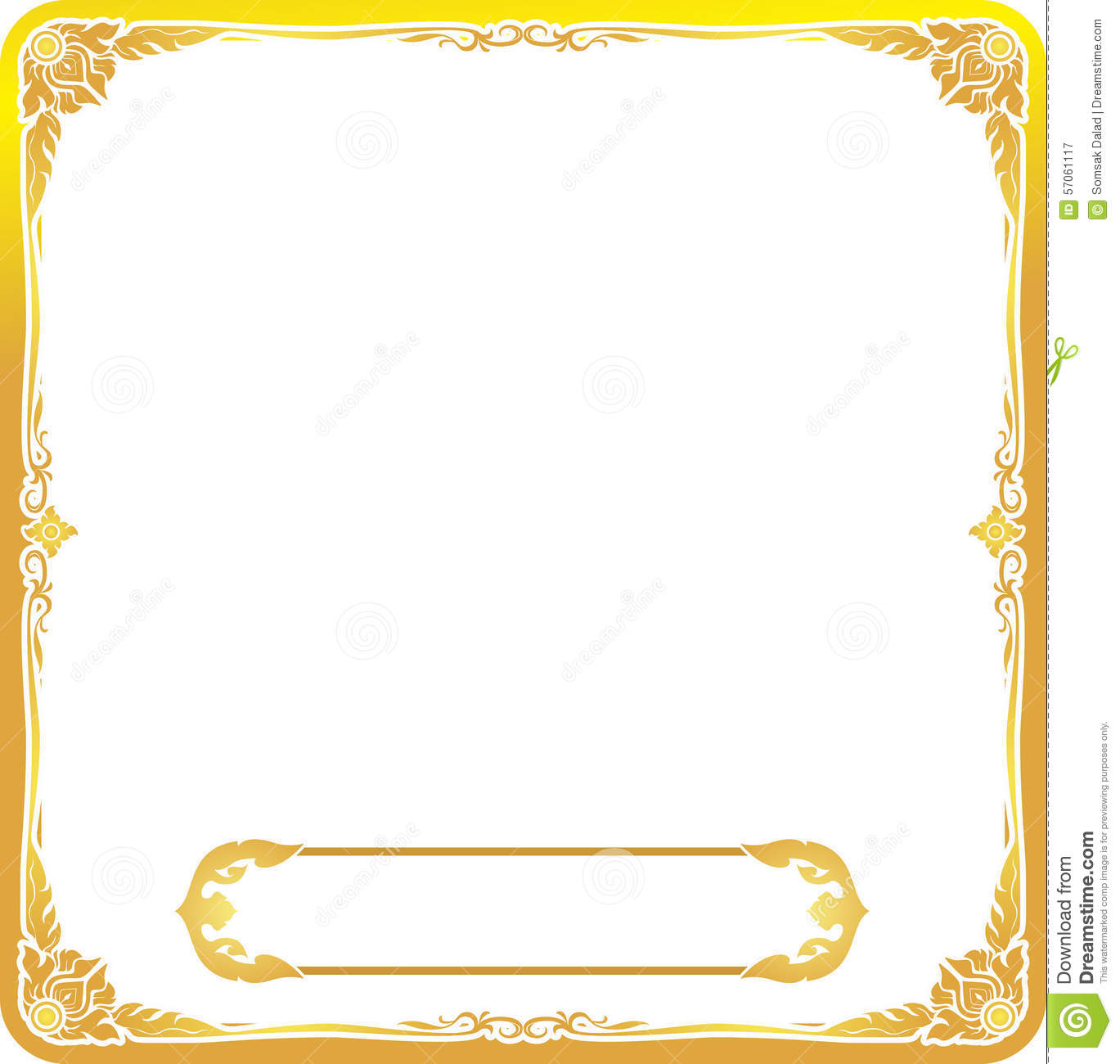 gold text frame floral stock vector illustration of block