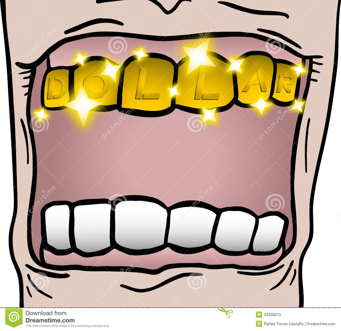 Gold tooth stock image. Image of dollar, mouth, money ...