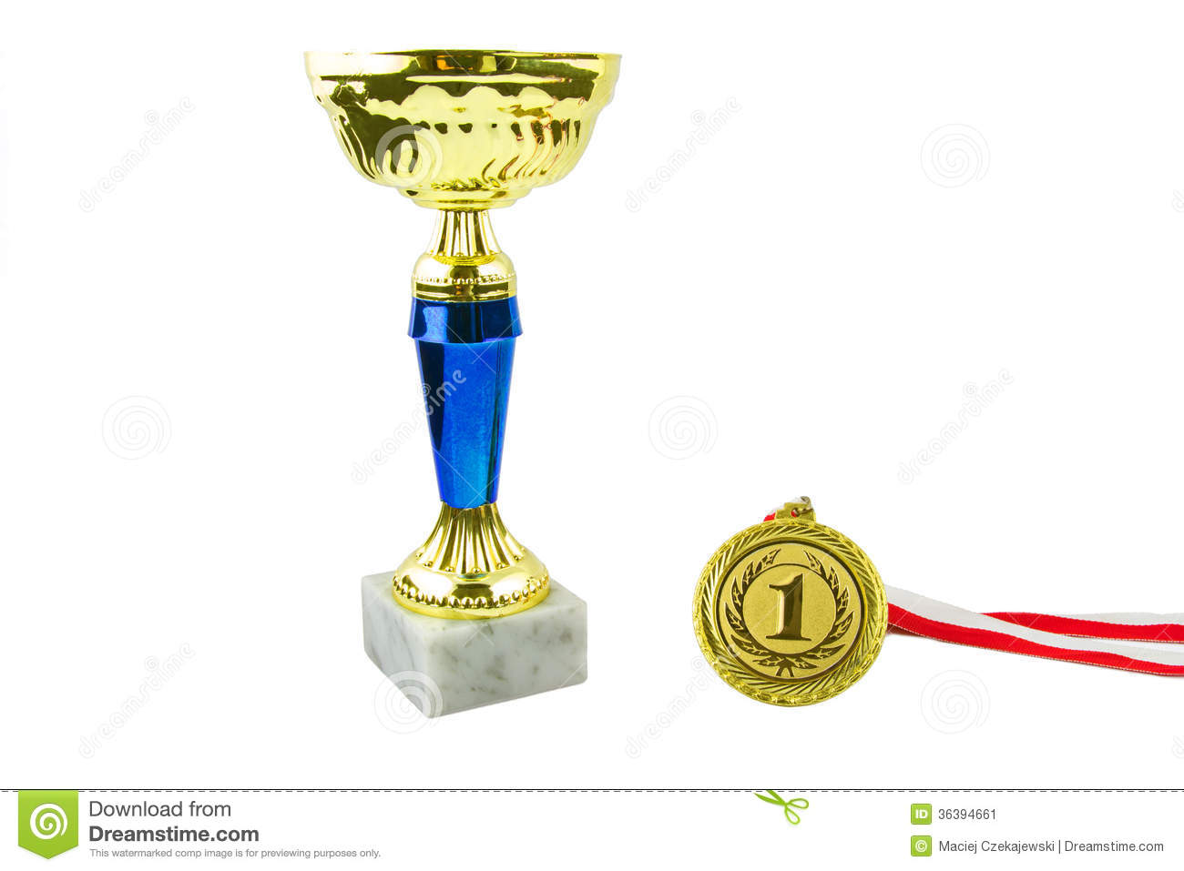 Gold Trophy Stock Image - Image: 36394661