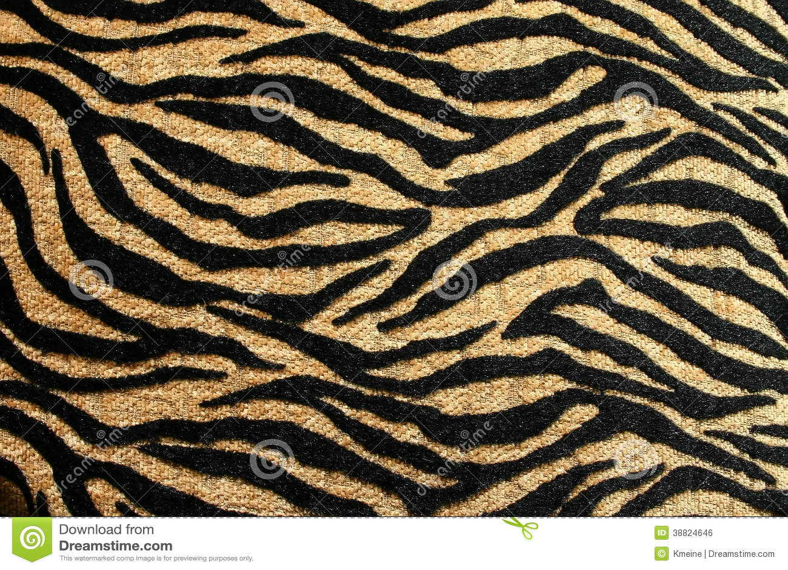 Gold und Schwarzes Tiger Design mit Rich Texture