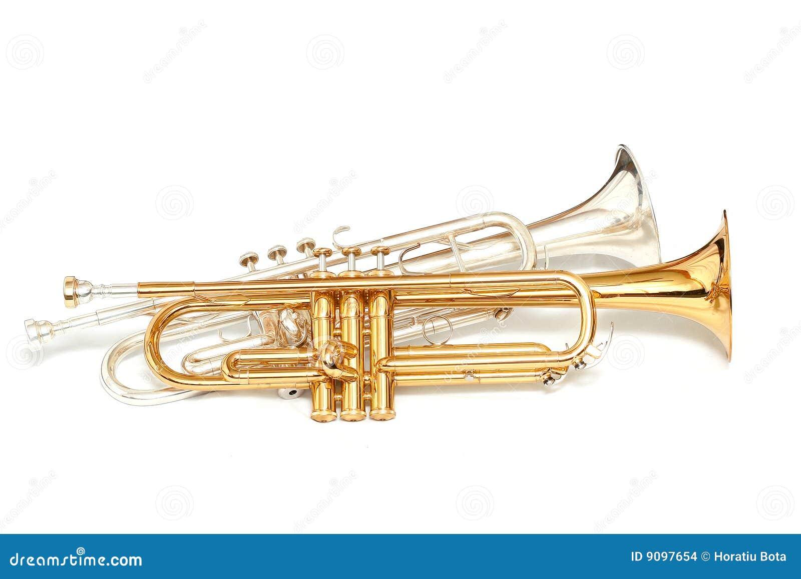 Gold- und Silbertrompeten