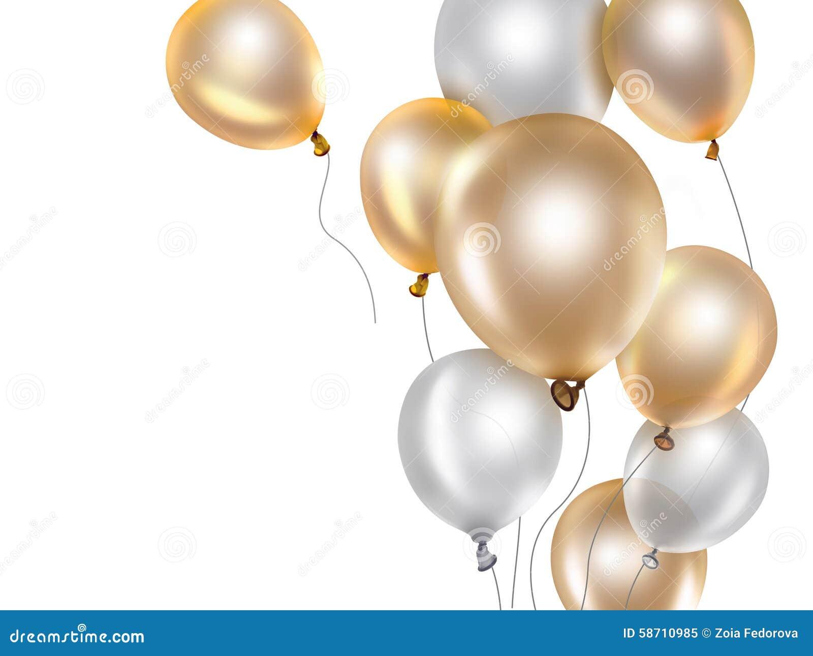 Gold und weiße Ballone