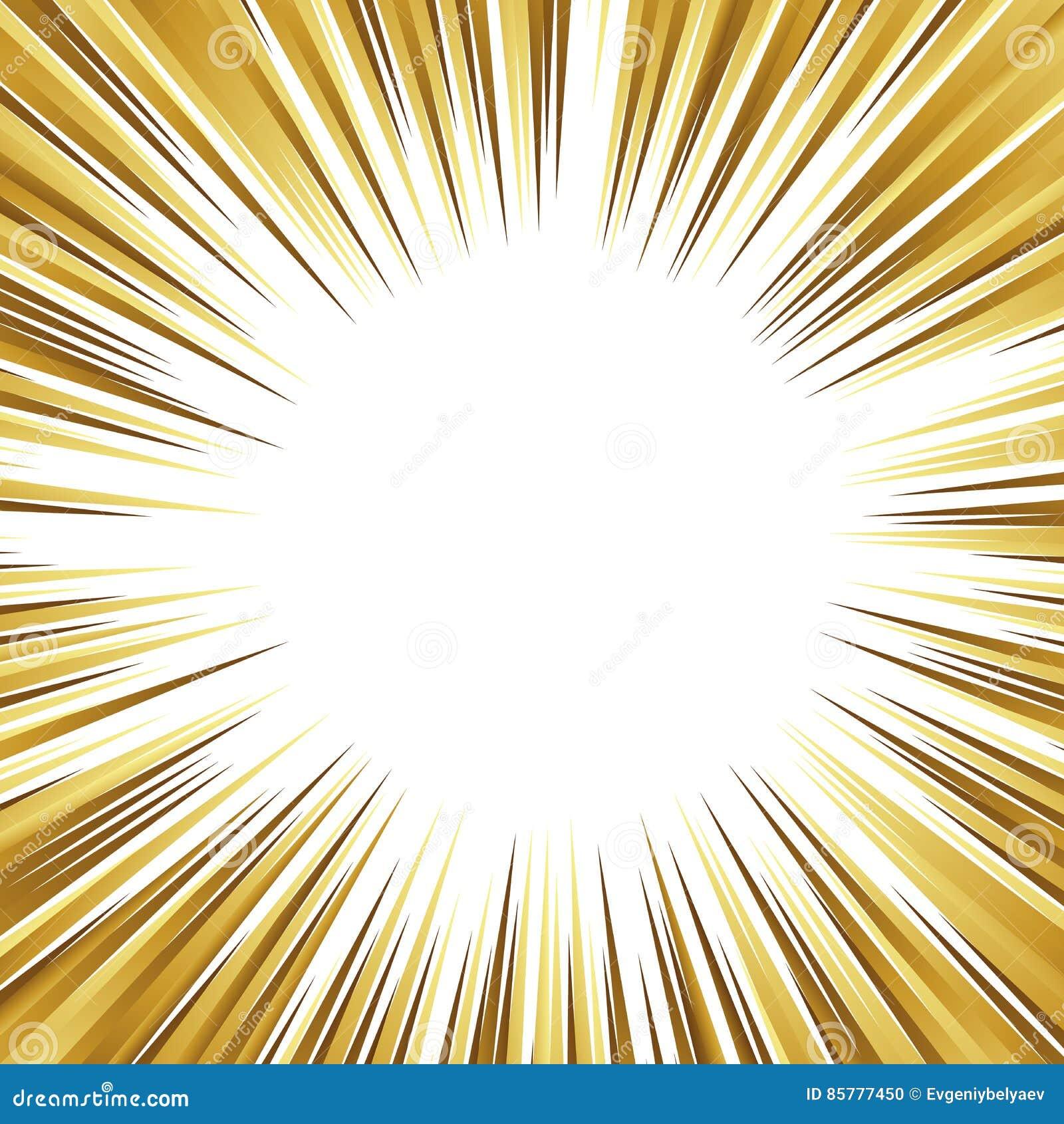 Gold Und Weiße Hintergrundaktionscomic-buch-Streifen Radiallinien ...