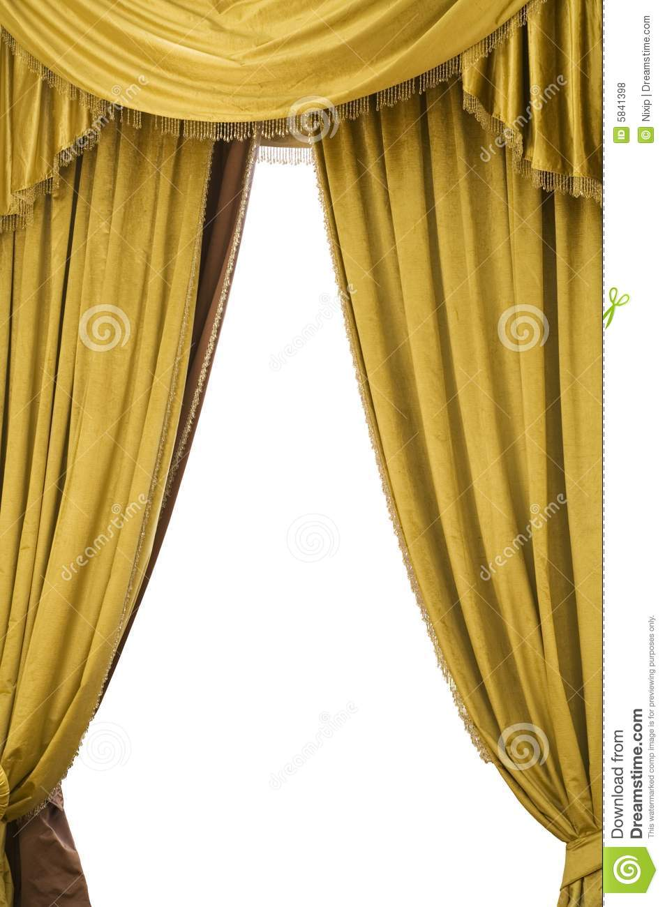 Gold Velvet Curtains Stock Photo Image Of Comedy Auditorium