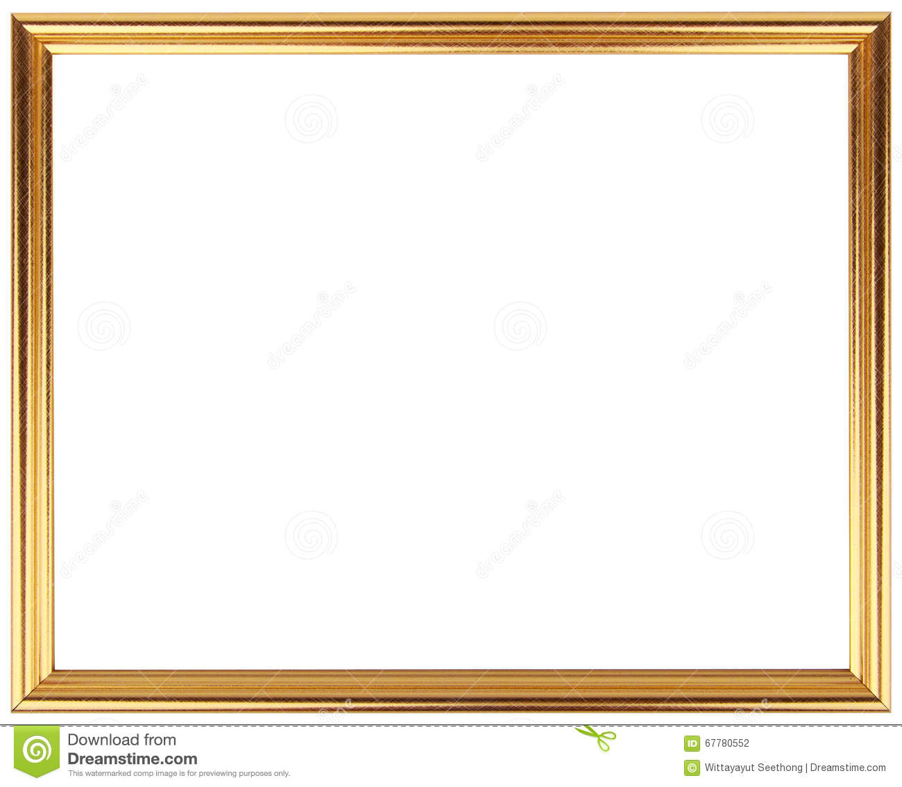 Simple Photo Frame : Vintage Frame Isolated On White. Gold Frame Simple Design. Stock Photo ...