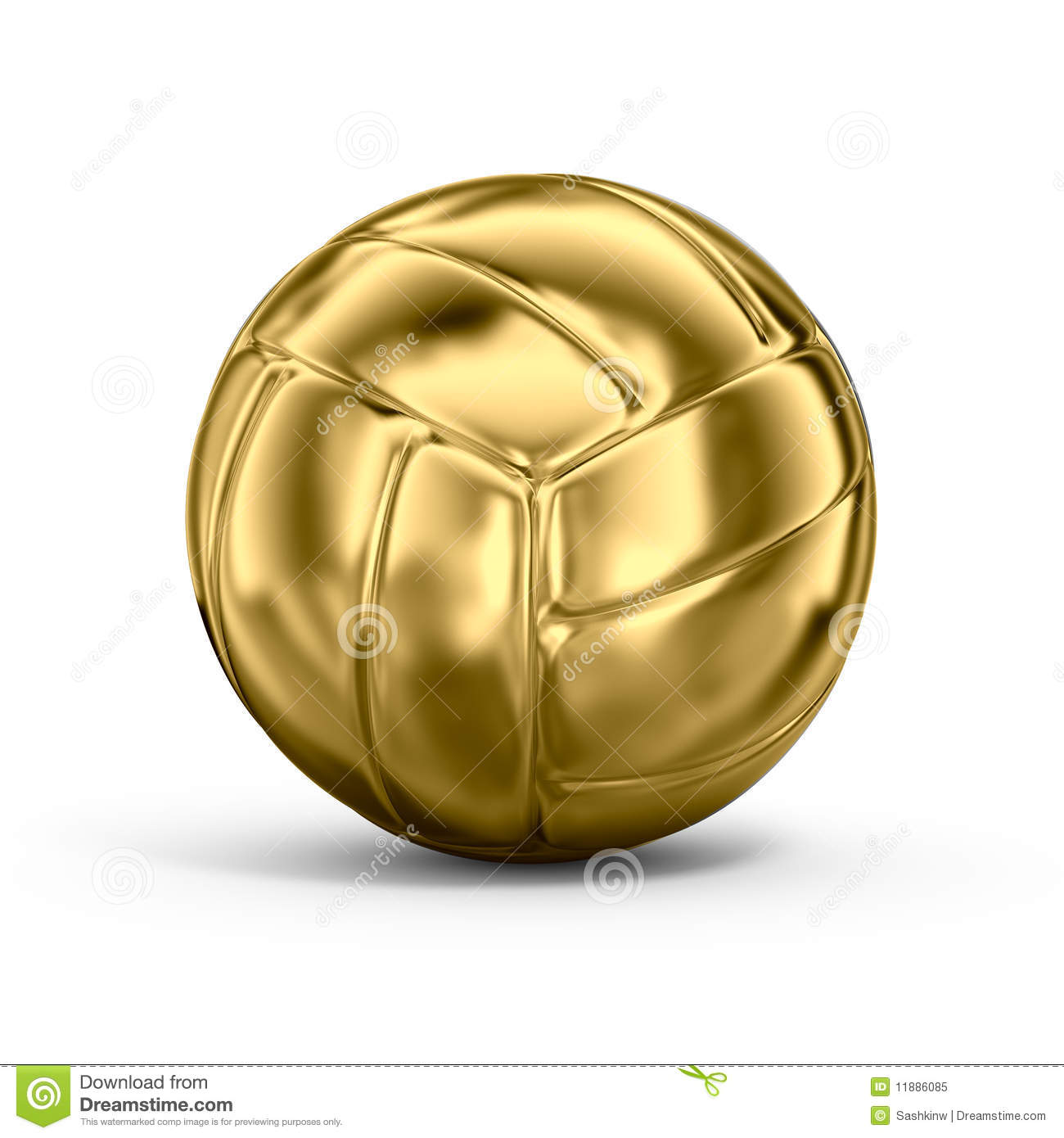 Gold Volleyball Royalty Free Stock Photo - Image: 11886085