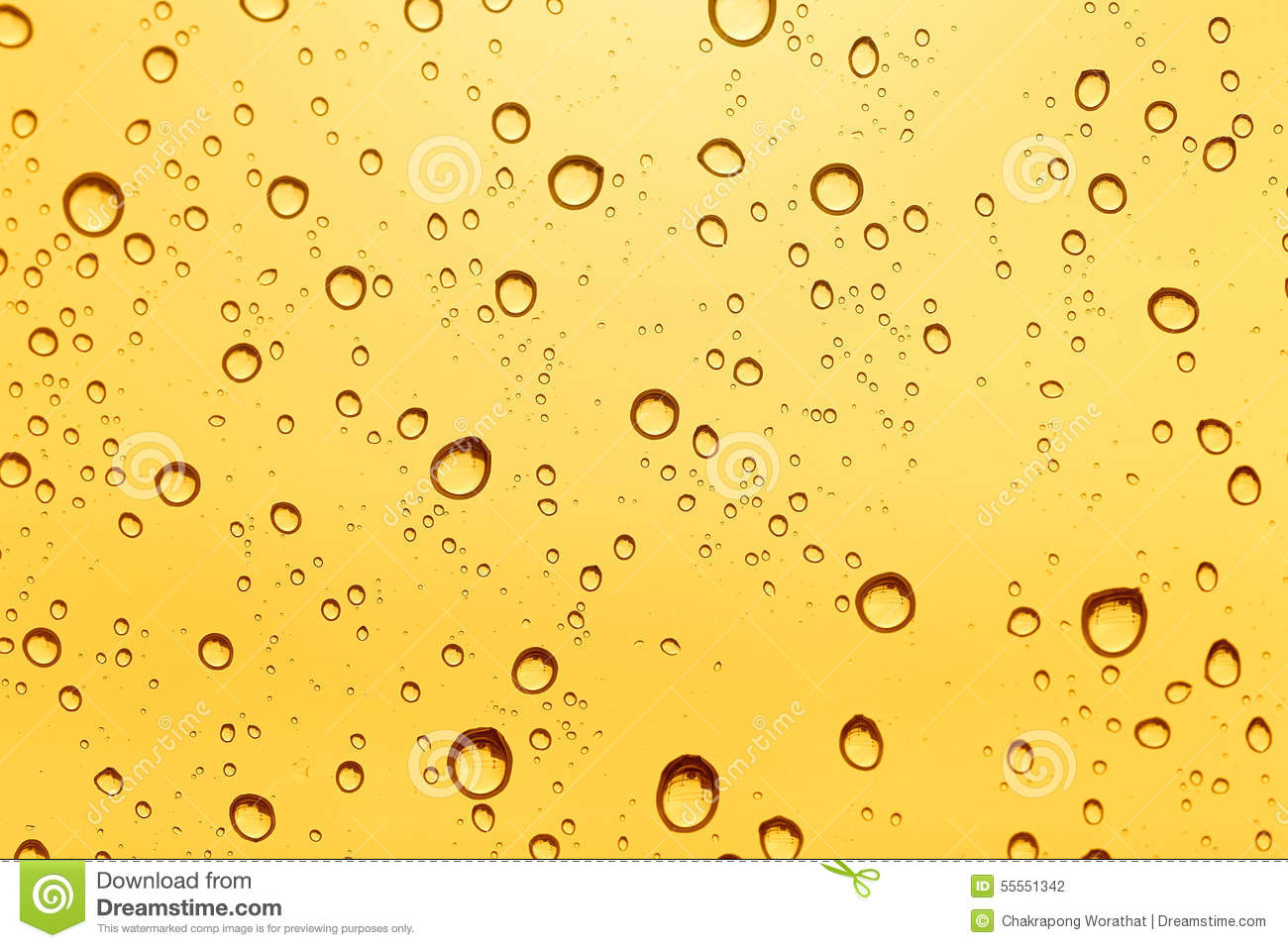 Gold Water Drop Background. Stock Photo - Image: 55551342