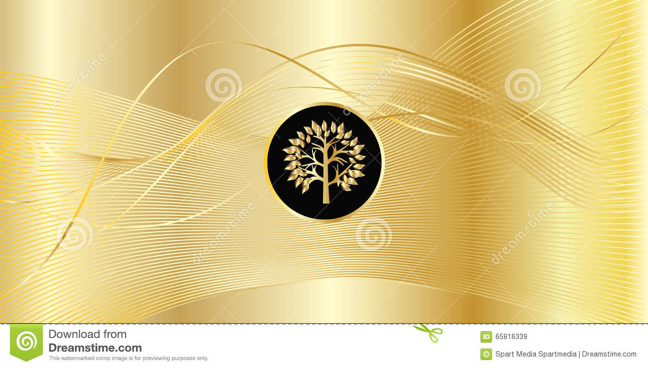 Download Gold wavy background stock vector. Illustration of abstract - 65816339