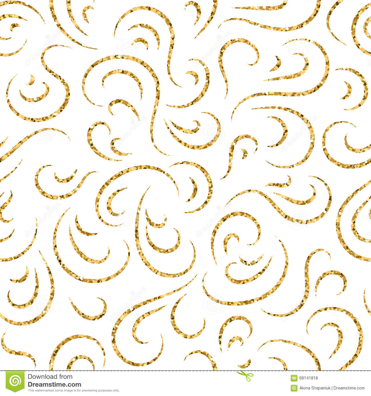 Wave Draw Line Symmetry Seamless Pattern Vector