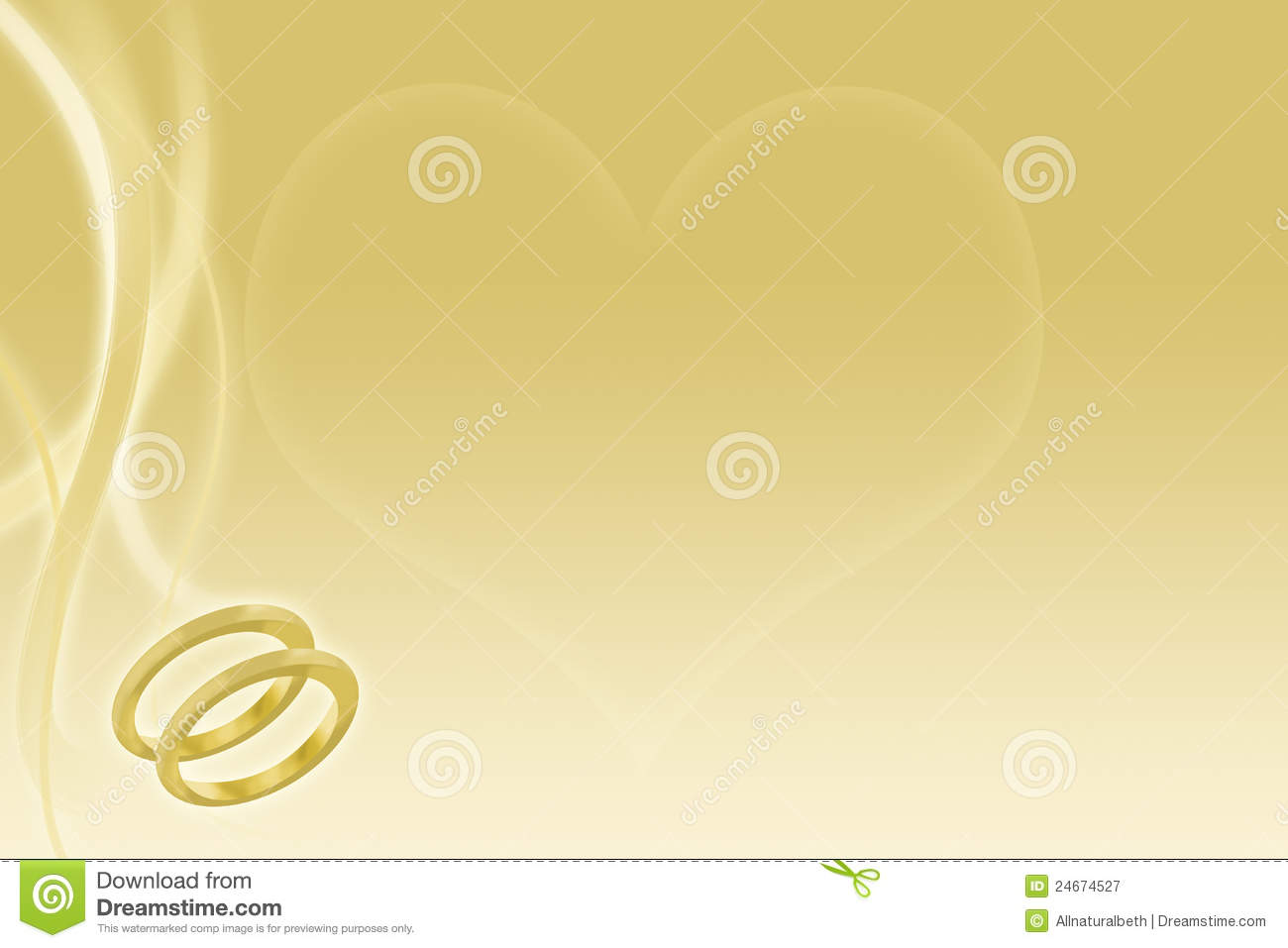 gold wedding background with rings and heart stock illustration image 24674527. Black Bedroom Furniture Sets. Home Design Ideas