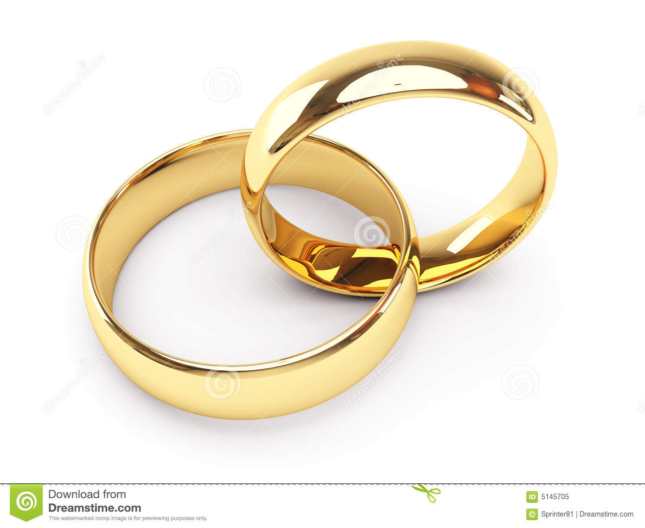 Gold wedding rings stock illustration Illustration of forever 5145705