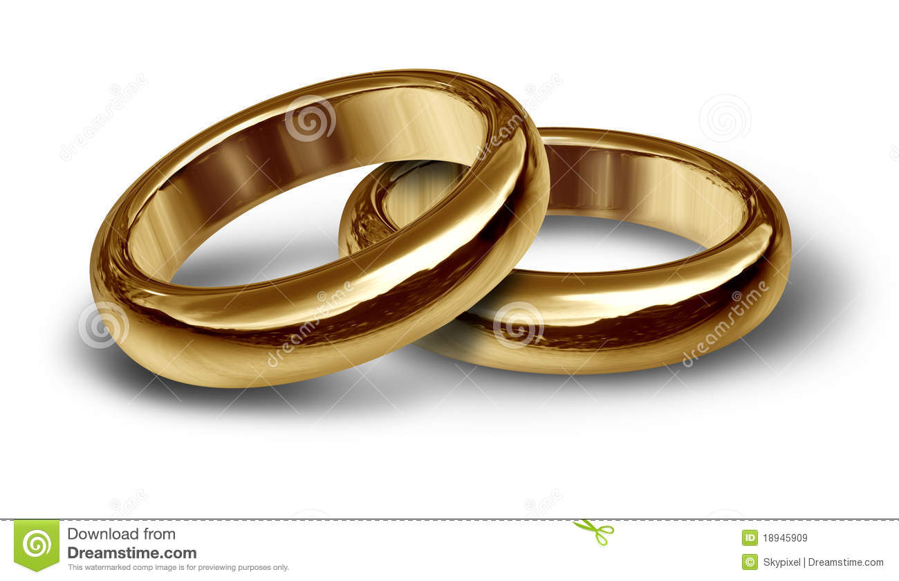 Gold Wedding Rings Symbol Royalty Free Stock Images Image 18945909