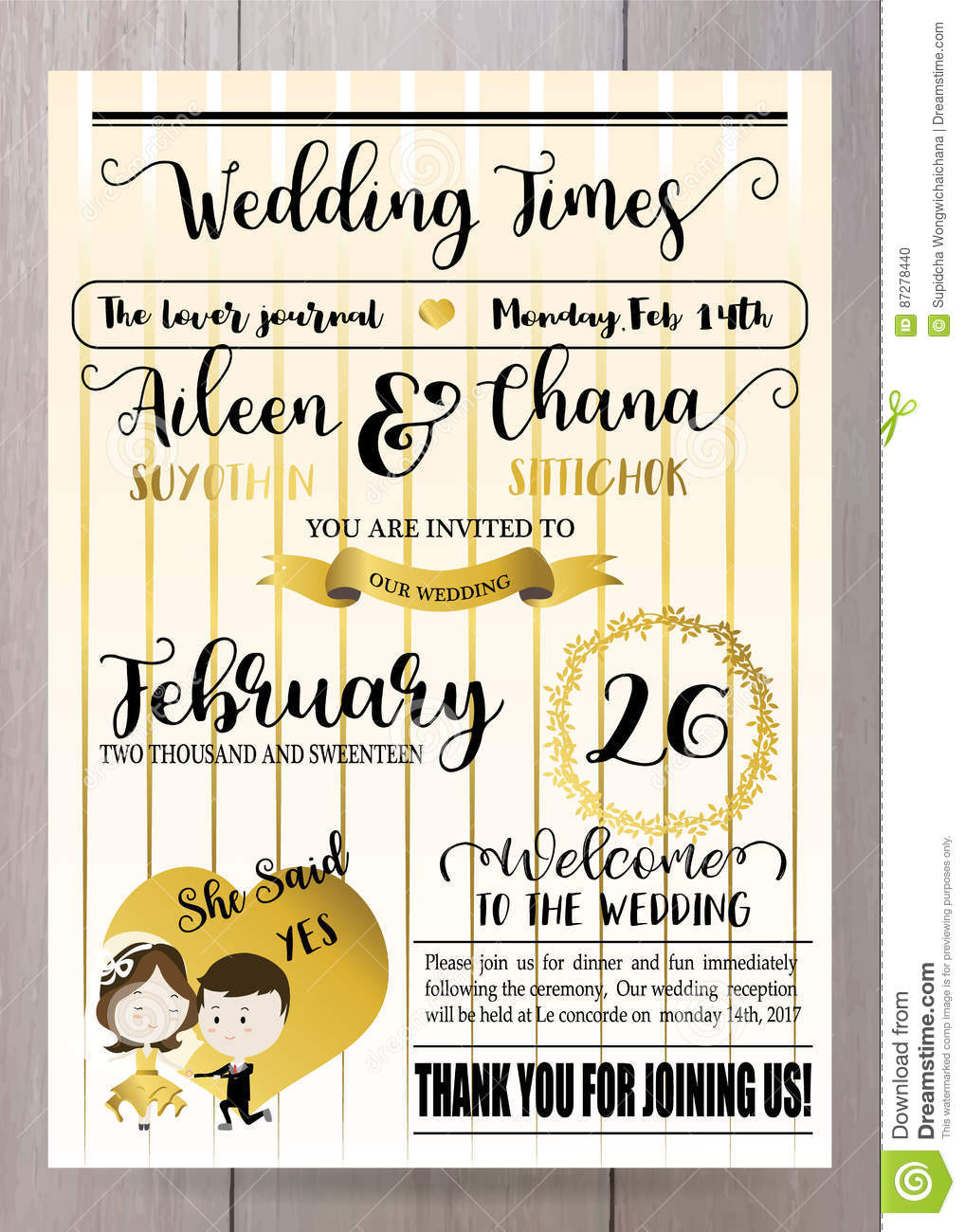 Gold Wedding Template Collection For Bannersflyersplacards Wit