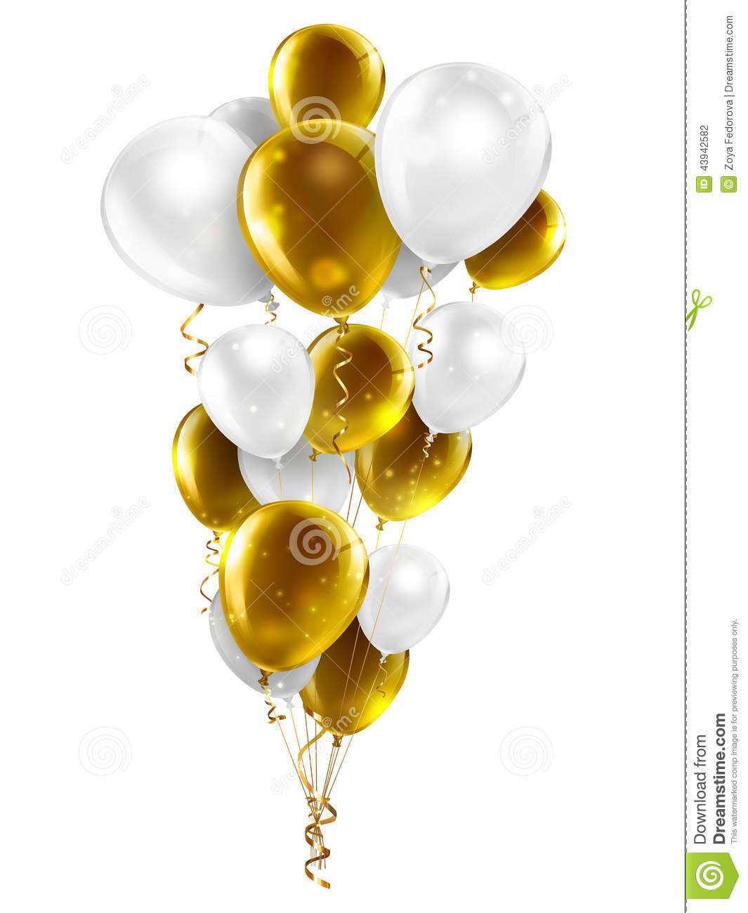 Gold And White Balloons Stock Illustration Image Of