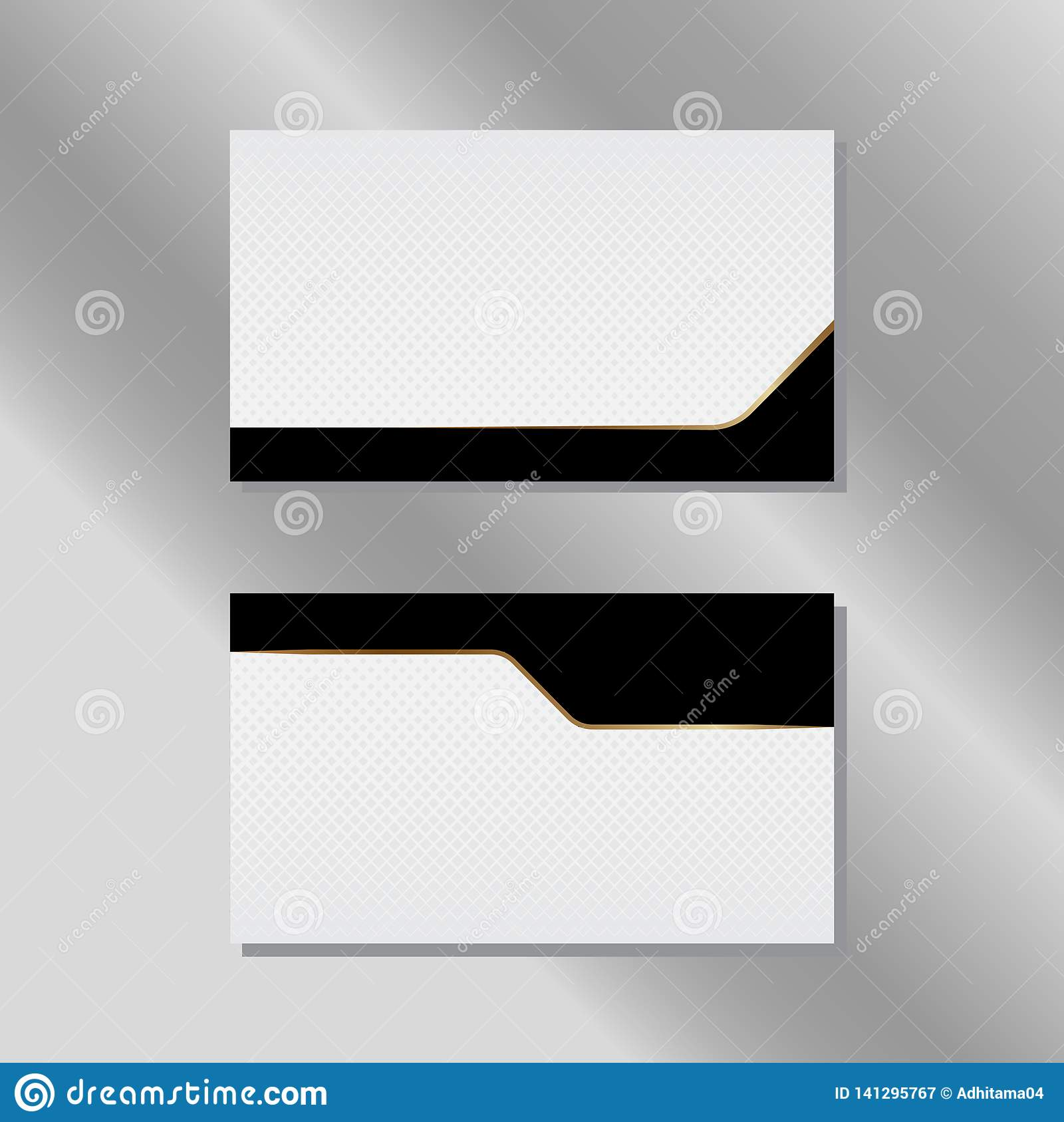 Gold and Black Simple Business Card