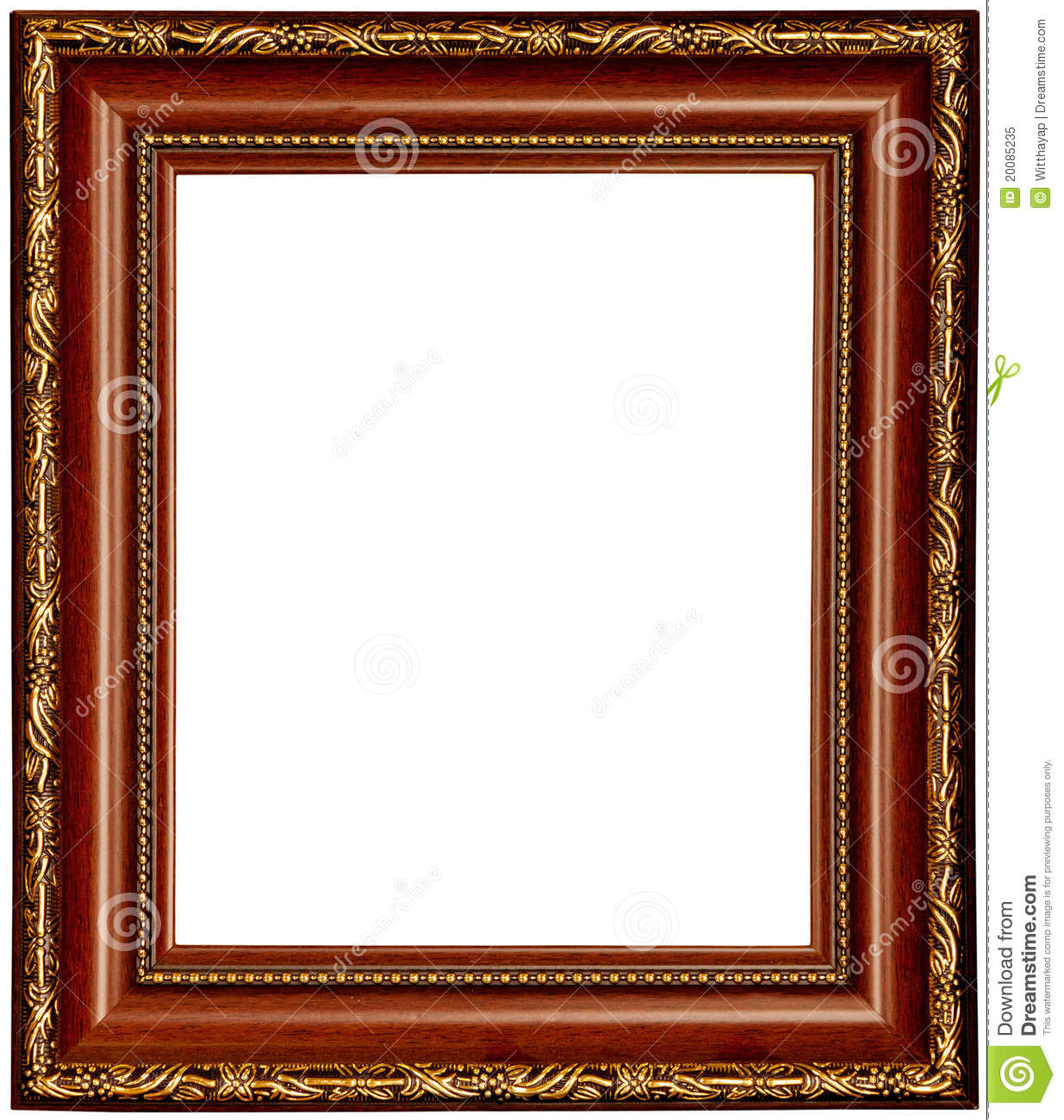 gold and wood frame stock photo 20085235 megapixl - Wood Picture Frame