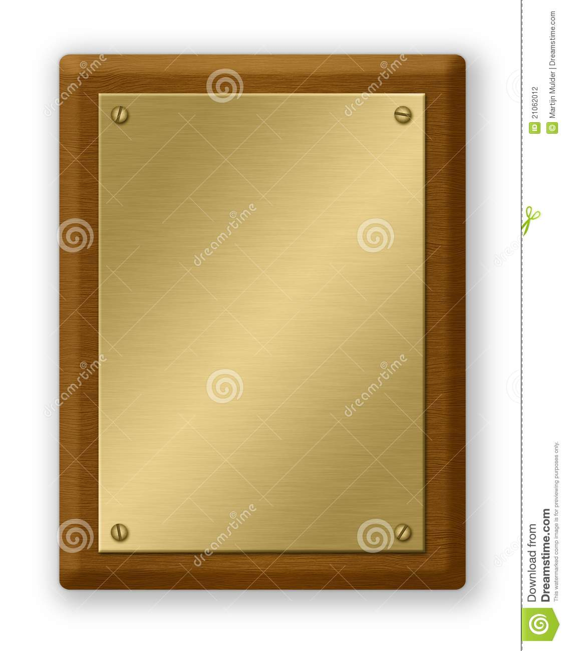 Gold And Wood Plaque Stock Photography Image 21062012