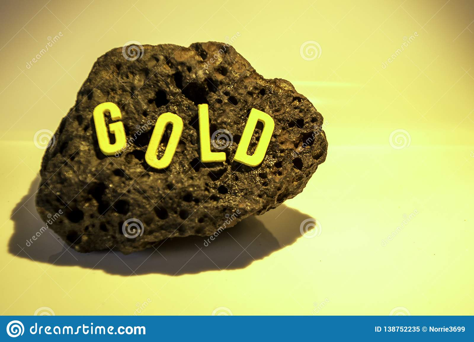 cb2906528bb The word Gold on a rock surface to show the findings of any item really  whether it be historic