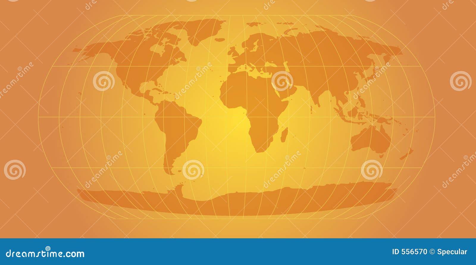 Gold world map stock illustration illustration of continental 556570 gold world map gumiabroncs Choice Image