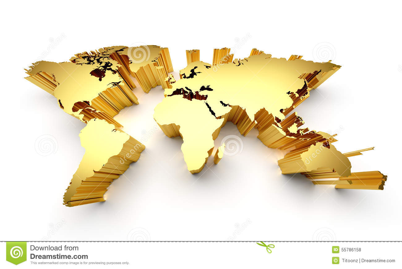 Gold world map stock illustration illustration of clear 55786158 download comp gumiabroncs Images