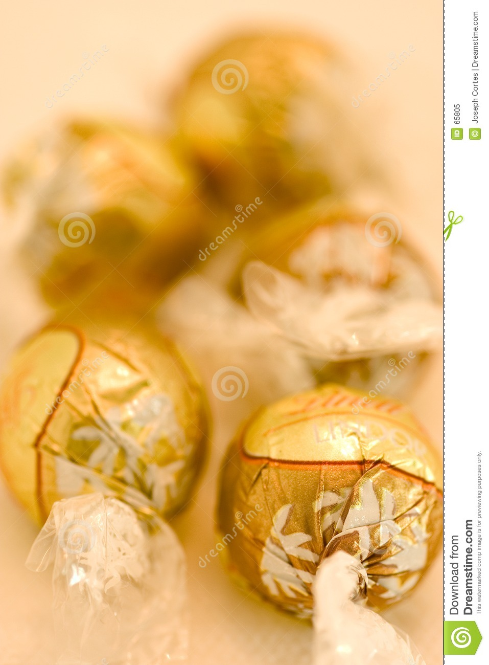 Gold Wrap Chocolate Candy Royalty Free Stock Photo Image