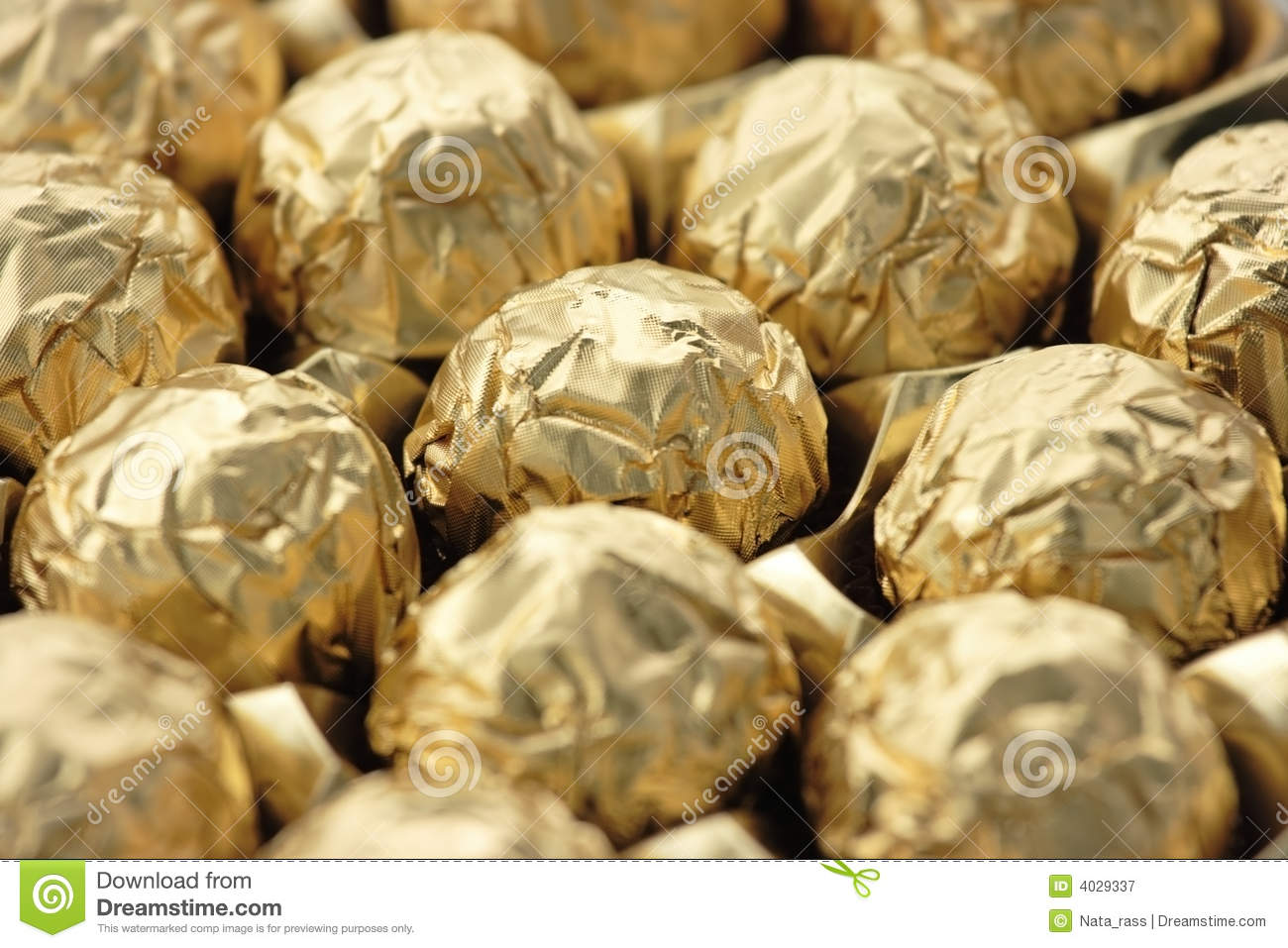 Gold Wrapped Chocolate Candy Royalty Free Stock Photography - Image ...