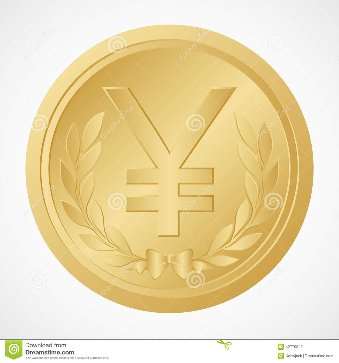 Gold yen coin with yuan symbol chinese money vector and gold yen coin with yuan symbol chinese money vector and illustration biocorpaavc