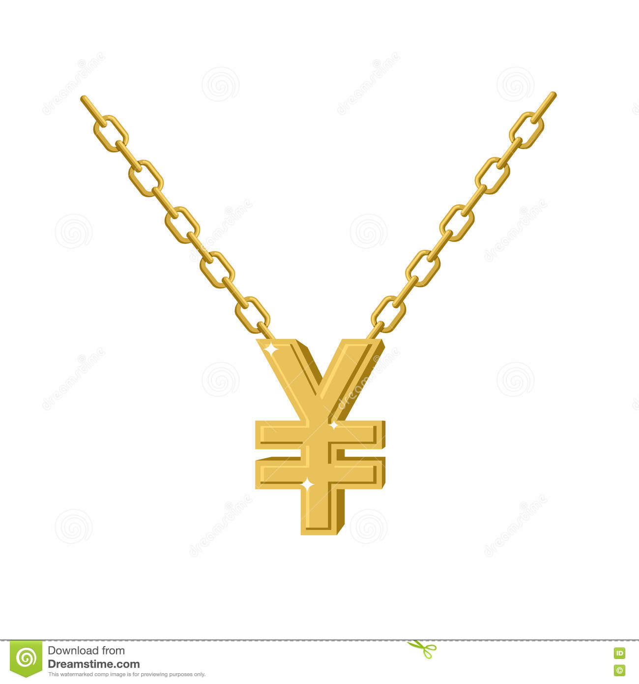 Gold Yen Necklace Decoration Chain Expensive Jewelry Symbol Of