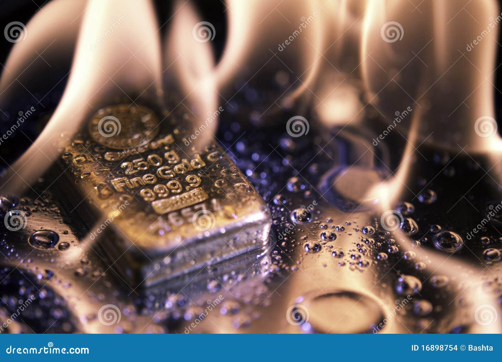 Goldbars пламени