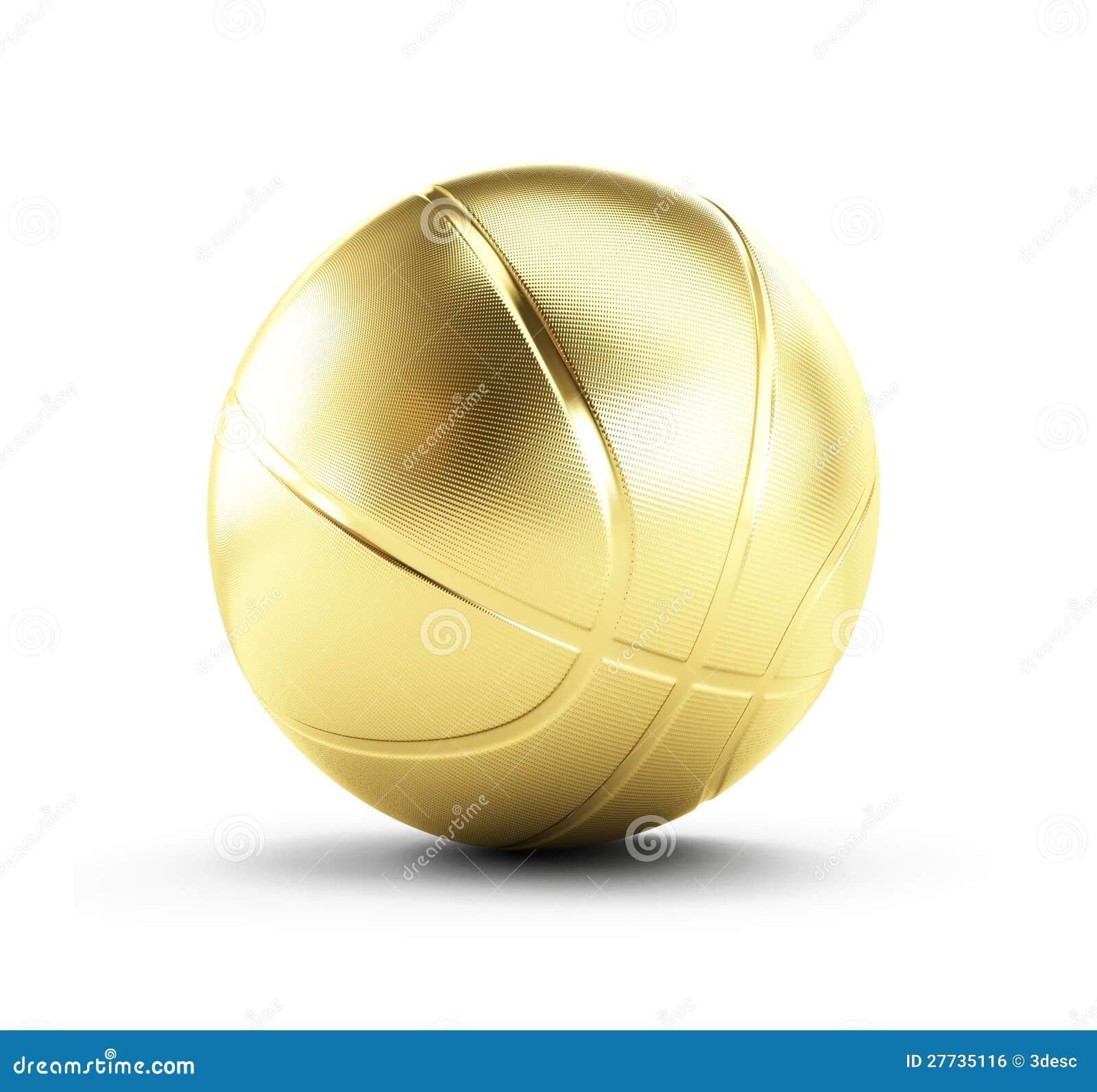 Goldbasketballkugel