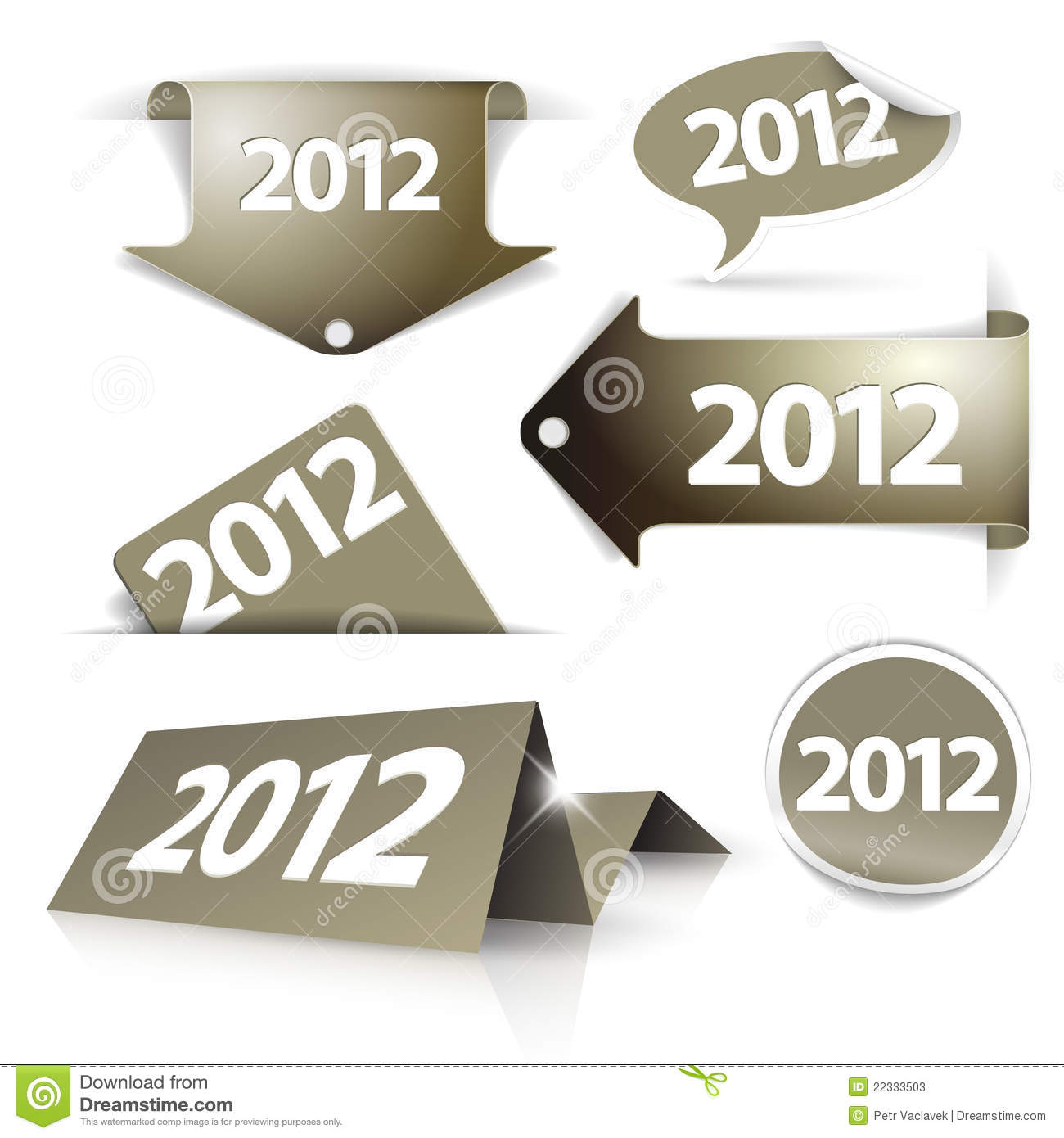 golden 2012 Labels, stickers, pointers
