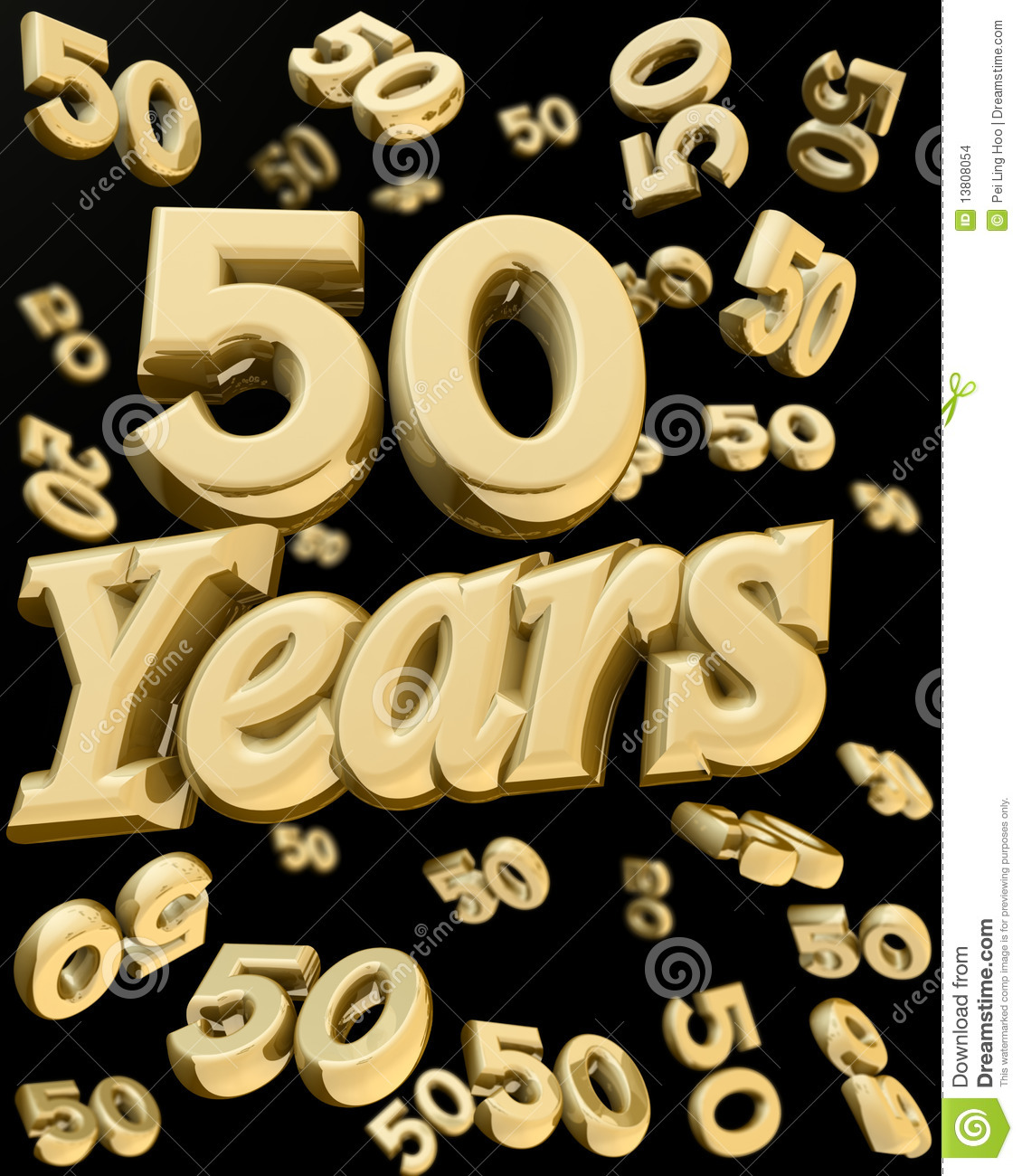 Golden 50 Years Anniversary Stock Images Image 13808054