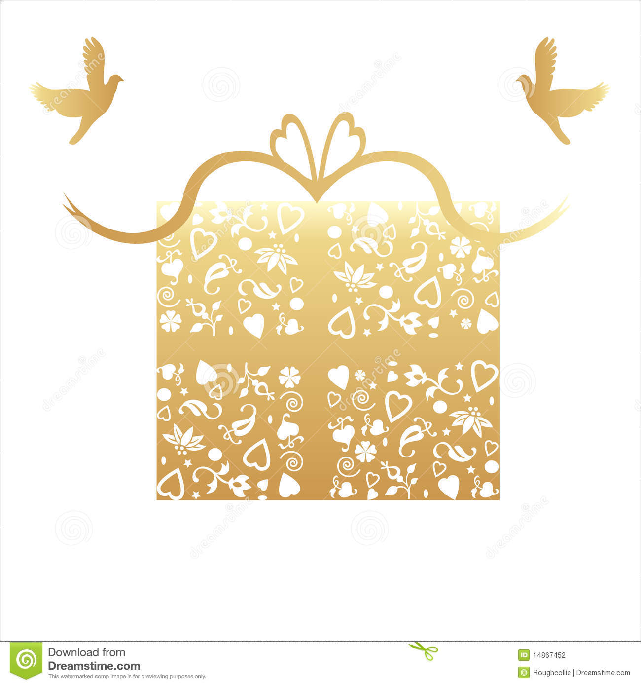 Golden 50th Wedding Anniversary Gift Card Stock Photography ...