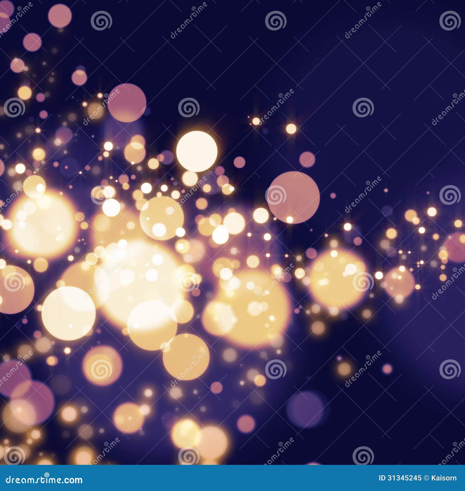 Golden Abstract Bokeh Light Background Stock Illustration