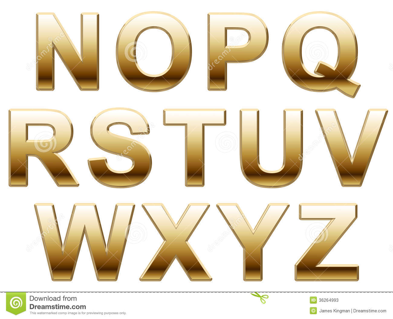 Gold Letters Stock Photos Image 36264993