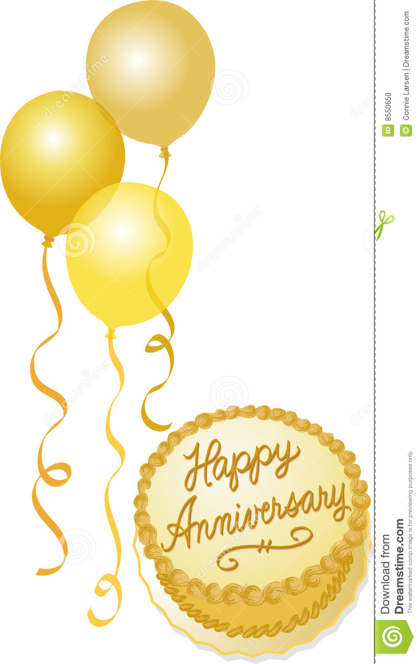 Golden anniversary celebration stock illustration