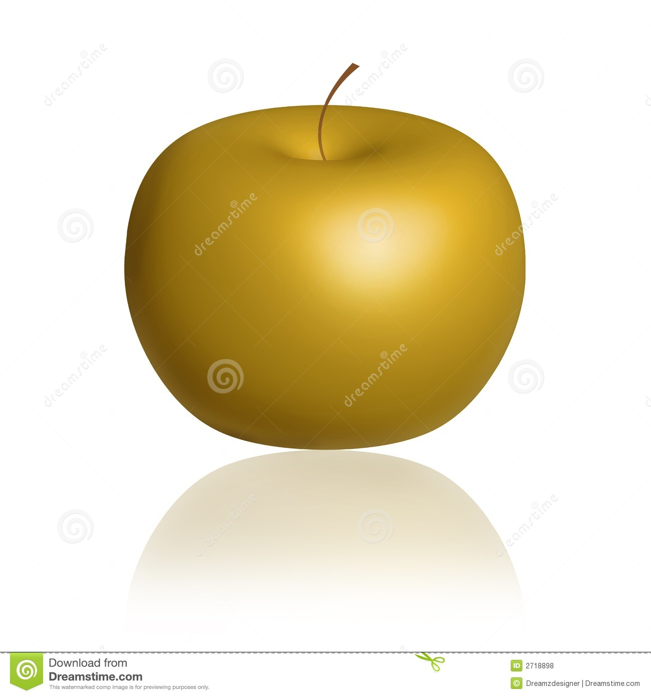 Golden Apple - Gold Apple Royalty Free Stock Photos - Image: 2718898